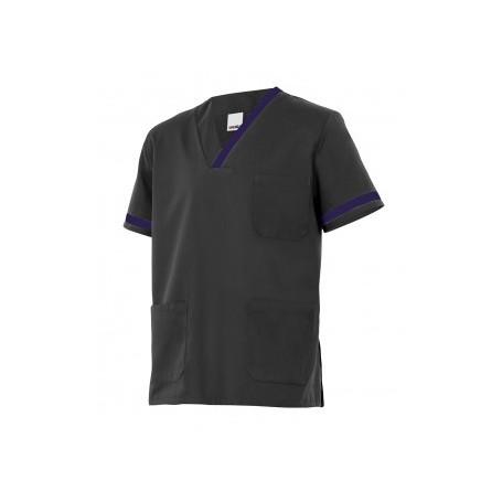 Camisola/Camisa o pijama sanitario de manga corta bicolor