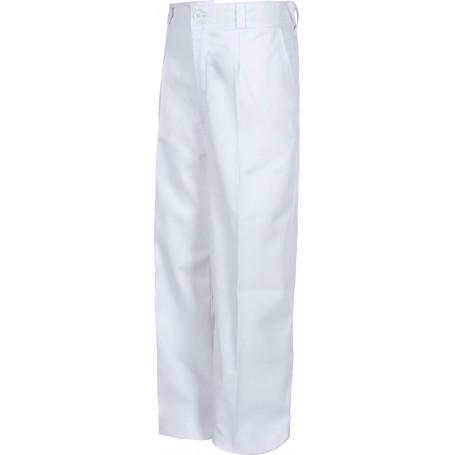 Pantalón de niño, cintura elástica, dos bolsos laterales inclinados.B1406