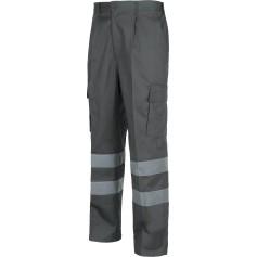 Pantalón con cintura elástica, multibolsillos y 2 cintas reflectantes.B1407