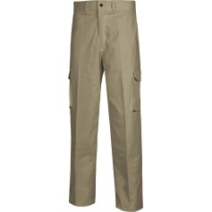Pantalón tipo chino, multibolsillos, tejido elástico.B1421