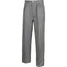 Pantalón pata de gallo, cintura elástica, bragueta y botón.B1426