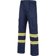 Pantalón con cintura elástica, multibolsillos y dos cintas reflectantes bicolor.B1436