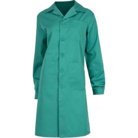 Bata de señora con cierre de botones, un bolso de pecho y 2 laterales.B6100