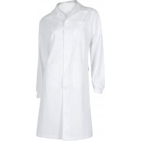 Bata de señora con cierre de botones, un bolso de pecho y 2 bajos. 100% Algodón.B6111