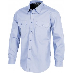 Camisa manga larga, dos bolsos de pecho con carteras.B8001
