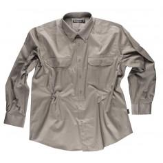 Camisa de manga larga, con dos bolsos de pecho con tapetas. 100% Algodón.B8300