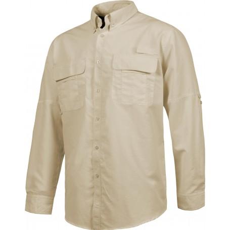 Camisa Safari manga larga multibolsillos.B8500
