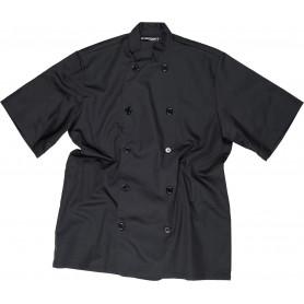Casaca de cocina con cierre de botones y manga corta.B9001