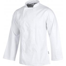 Casaca de cocina con cierre de botones y manga larga.B9002