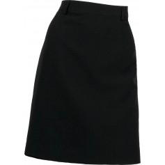 Falda corta con cinturilla, sin bolsillos.B9018