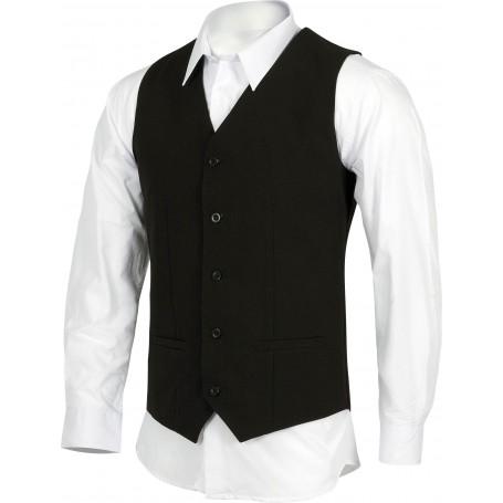 Chaleco de hombre con dos bolsillos, cierre de botones.B9032