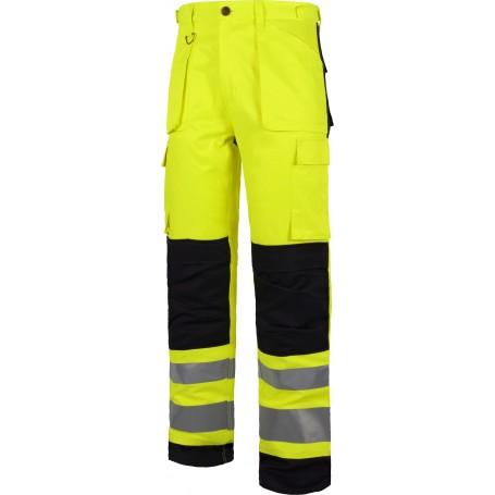 Pantalón multibolsillos alta visibilidad. Cintas reflectantes diferentes tamaños. EN ISO 204712013C2912