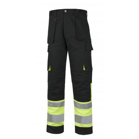 Pantalón multibolsillos combinado alta visibilidad. Cintas reflectantes diferentes tamaños.C2918