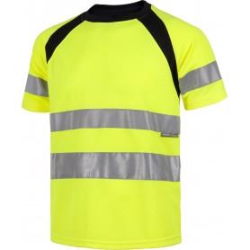 Camiseta manga corta combinada con alta visibilidad. Cintas reflectantes. EN ISO 204712013.C2941