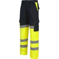 Pantalón combinado alta visibilidad con cintas reflectantes. EN471.C3214