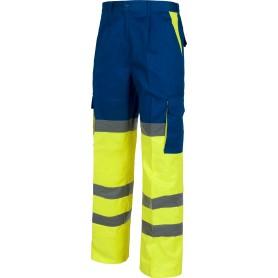 Pantalón combinado alta visibilidad con cintas reflectantes. EN471.C3314