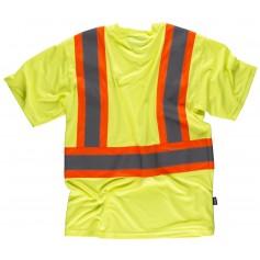 Camiseta manga corta con cintas reflectantes combinadas.C3645