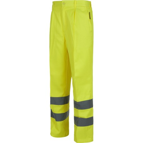 Pantalón alta visibilidad con cintas reflectantes. EN471 cintura elástica.C3915