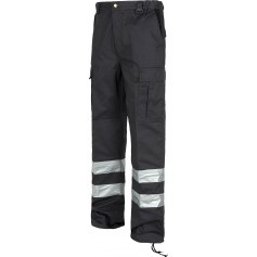 Pantalón con elástico, refuerzos en rodillas y trasero, multibolsillos, 2 cintas reflectantes.C4017