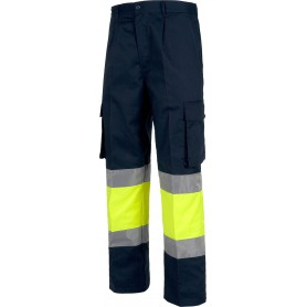 Pantalón combinado con cintura elástica, multibolsillos, 2 cintas A.V.C4019