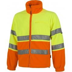 Polar alta visibilidad bicolor, cierre de cremallera, dos cintas reflectantes en torso y mangas.C4026