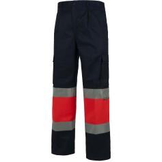 Pantalón multibolsillos con dos cintas de alta visibilidad. EN ISO204712013.C4057