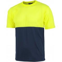 Camiseta manga corta combinada sin bolsillos.C6020