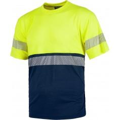 Camiseta manga corta combinada, sin bolsillos, con una cinta reflectante discontinua.C6030