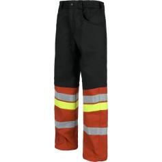 Pantalón forrado con tejido polar, combinado, multibolsillos, 3 cintas reflectantes.C8104