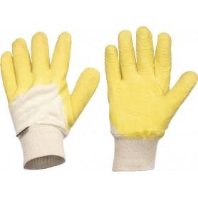 Pack 12 guante de algodón recubierto de látex, anticorteG4001