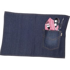Mantel individual pack de 4, de tejido vaquero. 50x35.M715