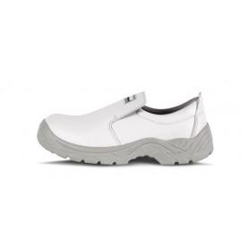 Zapato de microfibra sin cordones, especial alimentación. Puntera de acero anti impactos.P1402