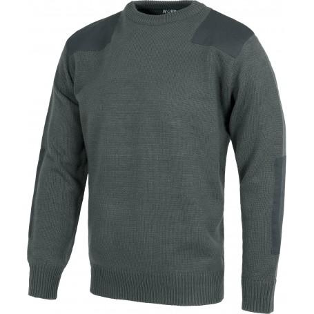 Jersey de cuello redondo con refuerzos en hombros y codos.S5500
