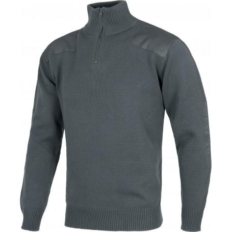 Jersey de media cremallera con refuerzos en hombros y codos. 100% Algodón.S5502