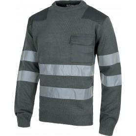 Jersey cuello redondo con bolsillo y 2 cintas reflectantes.S5507