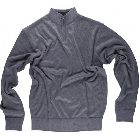 Jersey de punto fino. Cuello alto con cierre de cremallera. Cintura y puños elásticos.S5601