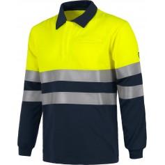 Polo AV manga larga, modacrílico, algodón, fibra antiestática. EN ISO 11612, EN 1149, EN 1150.S6591