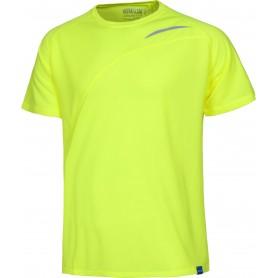 Camiseta técnica en colores flúor de manga corta con detalles reflectantesS6610