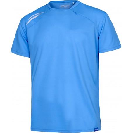 Camiseta técnica manga corta con detalles fluorescentes y bolsillo en el pecho con cremallera ocultoS6611