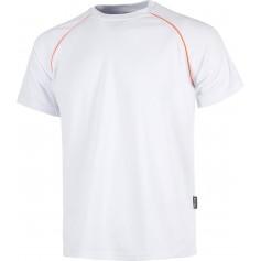 Camiseta servicios de manga corta, cuello caja, tipo malla con vivo en A.V.S6640