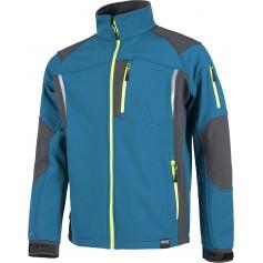 Workshell combinado con detalles reflectantes, un bolsillo en pecho, manga y dos laterales.S9495