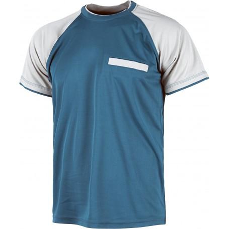 Camiseta de manga corta con mangas a contraste y bolsillo en pecho.WF1016