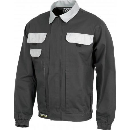 Cazadora linea 3 combinada, elástico en cintura y dos bolsos de pecho.WF1160