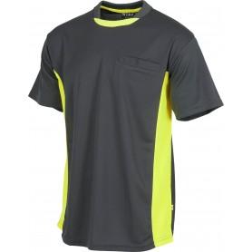 Camiseta linea 6, tipo malla, manga corta, bicolor.WF1616