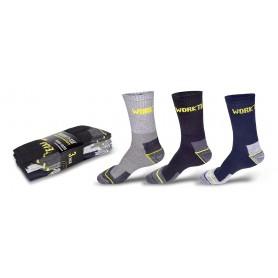 Calcetines pack 3 pares. Elástico en empeine y tobillo. 3 colores.WFA020