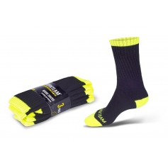 Calcetines, pack de tres pares, elástico en empeine y tobillo.WFA021