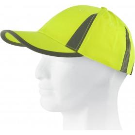 Gorra ajustable en alta visibilidad, diseño picos reflectantes.WFA902