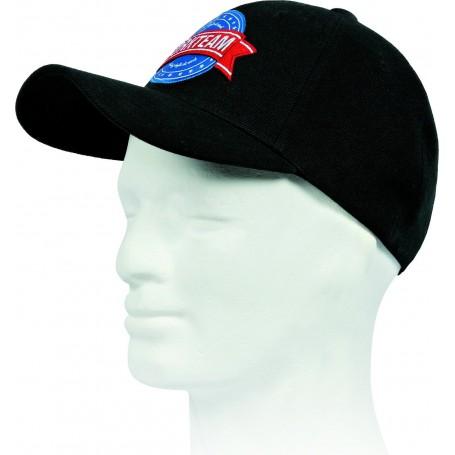Gorra de sarga con logo tridimensional bordado. Ajuste trasero de velcro.WFA905