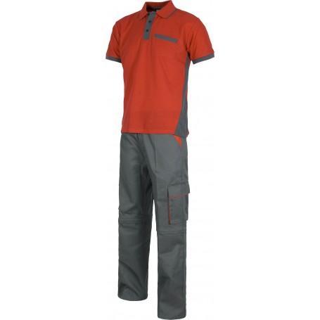 Pantalón desmontable, polo manga corta y guantes nitrilo. Set indivisible.WSET1465