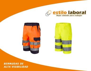 Pantalones cortos de alta visibilidad en Estilo Laboral